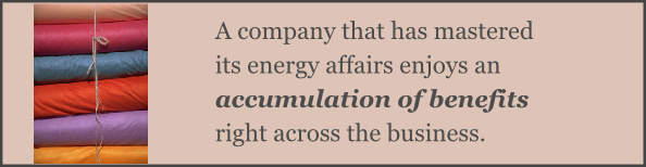 A company that has mastered its energy affairs enjoys an accumulation of benefits right across the business.